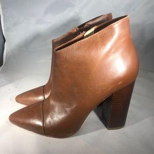 Pour La Victoire Cognac Ankle Heel Booties